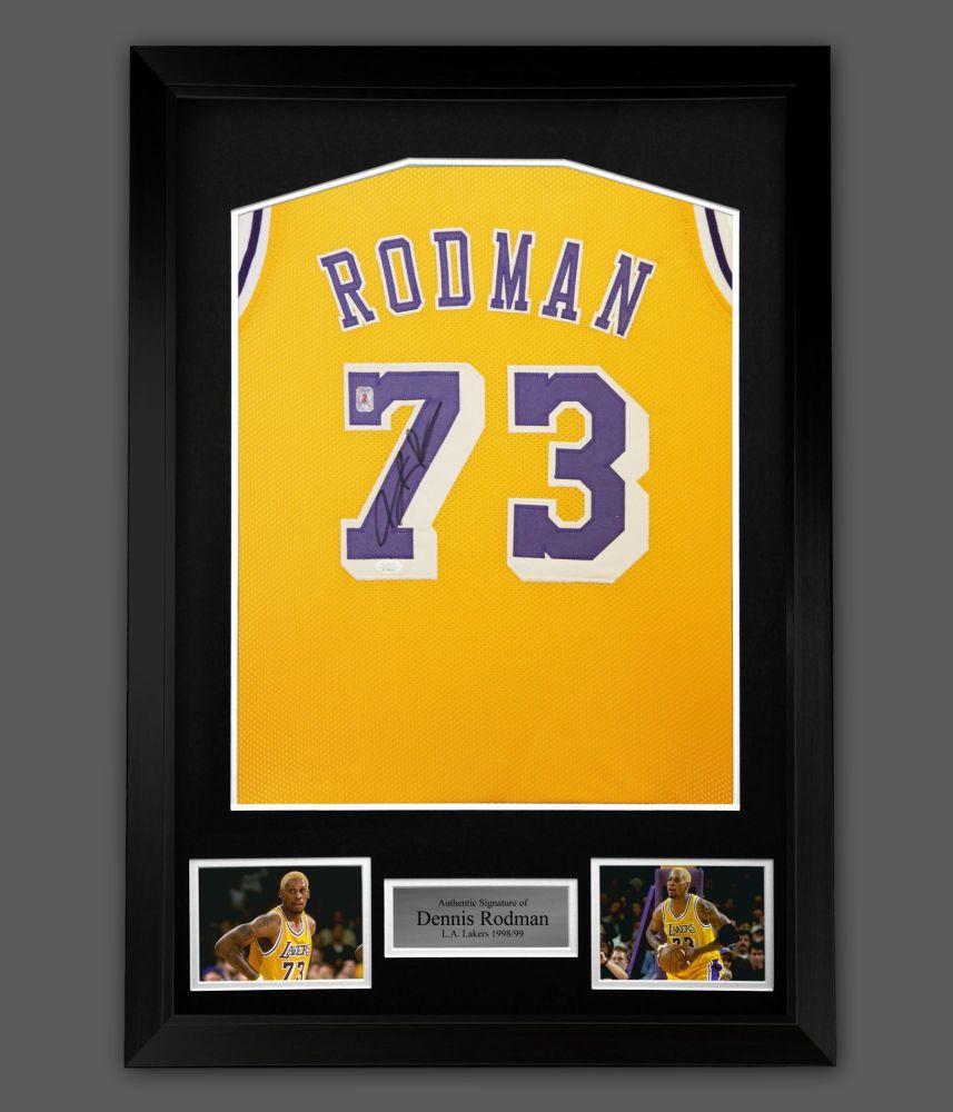 Dennis Rodman Signed LA Lakers  Vest In A Framed Presentation  : Star Dea