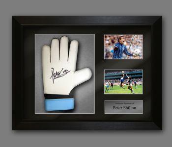 Peter Shilton Hand Signed Predator Goalkeeper Glove  In A Framed Presentation