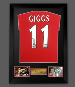 Ryan Giggs Signed Manchester United Sharp 99 Football Shirt In A  Frame Presentation