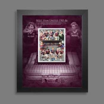 West Ham Boys of 86 10x8 Hand Signed Photograph In A Picture Mount Display