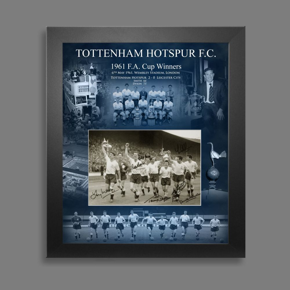 Tottenham Hotspurs 1961 12x8 Hand Signed Photograph In A Picture Mount Di