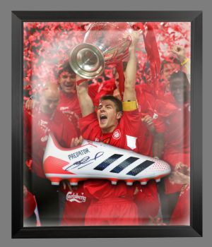 Steven Gerrard  Liverpool Hand Signed  Football Boot In A Dome : A