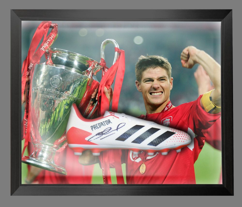 Steven Gerrard  Liverpool Hand Signed  Football Boot In A Dome : B : Star