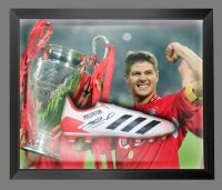 Steven Gerrard  Liverpool Hand Signed  Football Boot In A Dome : B
