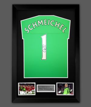 Peter Schmeichel Signed Manchester United Football Shirt In A Framed Presentation