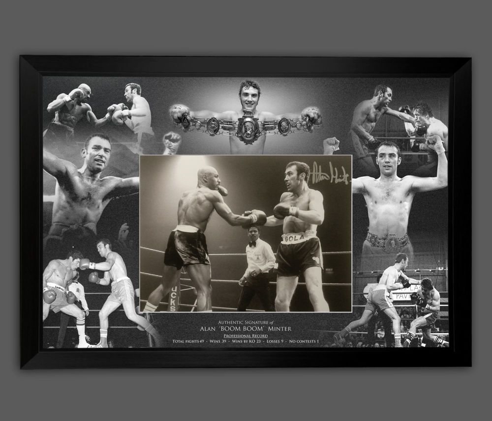 Alan Minter Signed And Framed 12x16 Boxing Photograph  In A Picture Mount D