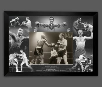 Alan Minter Signed And Framed 12x16 Boxing Photograph  In A Picture Mount Display