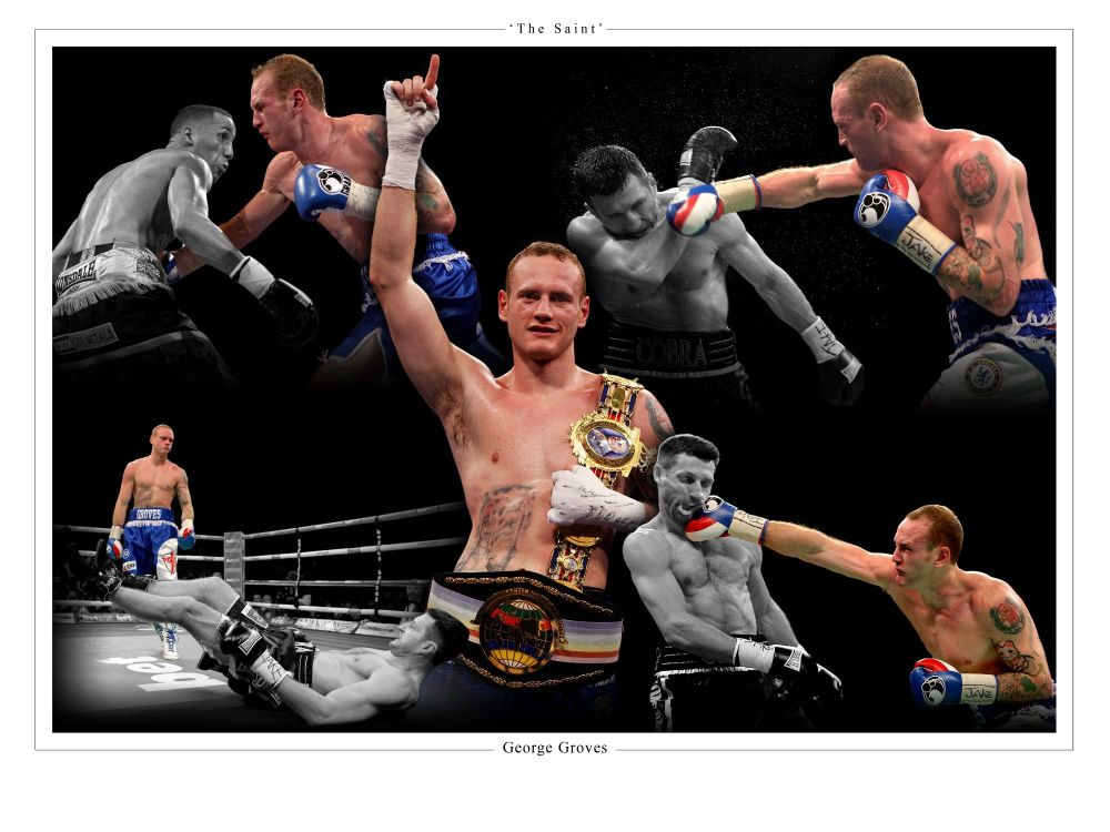 George Groves Signed 10x8 Montage :  Sportsmania Autograph  Pre order.