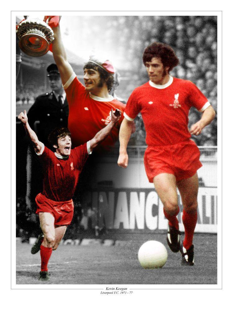 Kevin Keegan Liverpool Fc Football 10x8 Signed  Montage : Sportsmania Autog