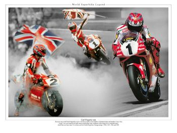 Carl Fogarty 10x8 Signed Montage : Private Signing Autograph  Pre Order.
