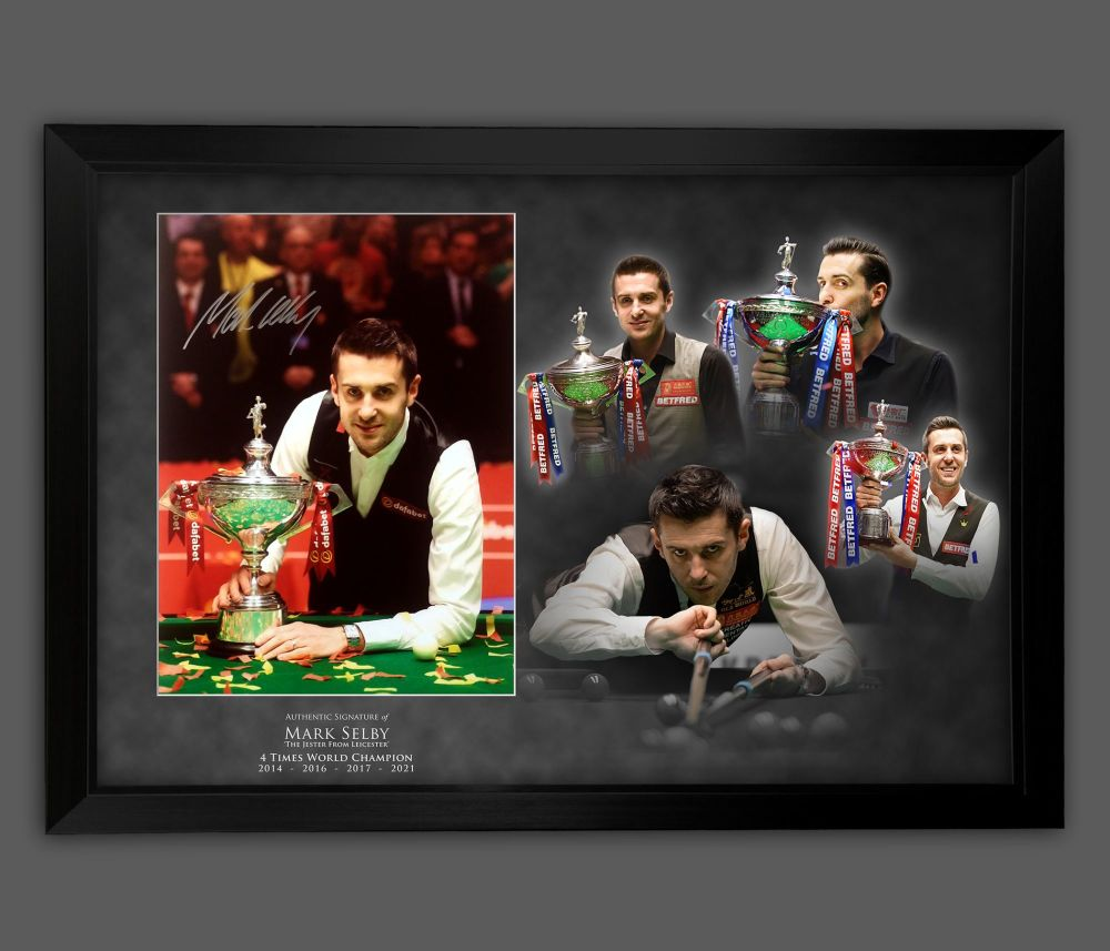 Mark Selby  Signed Snooker 12x16  Photograph Framed  In A Picture Mount Di