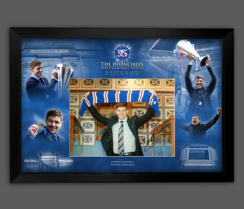 Steven Gerrard Rangers Fc  12 x 16 Photograph Framed  In A Picture Mount