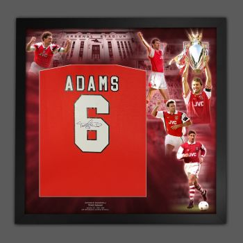 Tony Adams Signed Arsenal Fc  Football Shirt Framed In A Picture Mount Display