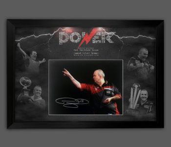 Phil Taylor Signed 12x16 Darts Photograph Framed In A Picture Mount Display : A