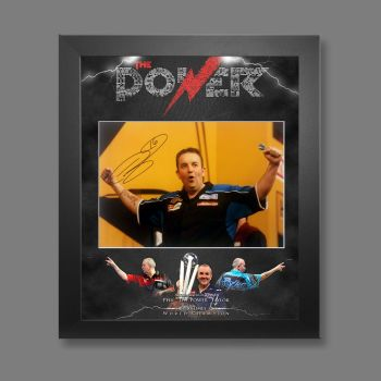 Phil Taylor Signed 12x16 Darts Photograph Framed In A Picture Mount Display : B