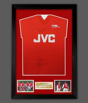 Arsenal Back Four Signed  Football Shirt In Framed Display