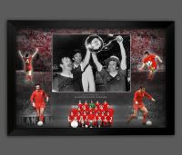 Tommy Smith And Ian Callaghan Dual Signed Liverpool Fc   Football Photograph In A Framed Picture Mount  Presentation