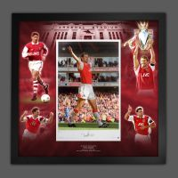 Tony Adams Signed Arsenal Fc Football Photograph In A Framed Picture Mount  Presentation
