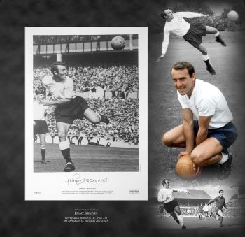 Jimmy Greaves Signed Spurs Fc Football Photograph In A Framed Picture Mount  Presentation : C :