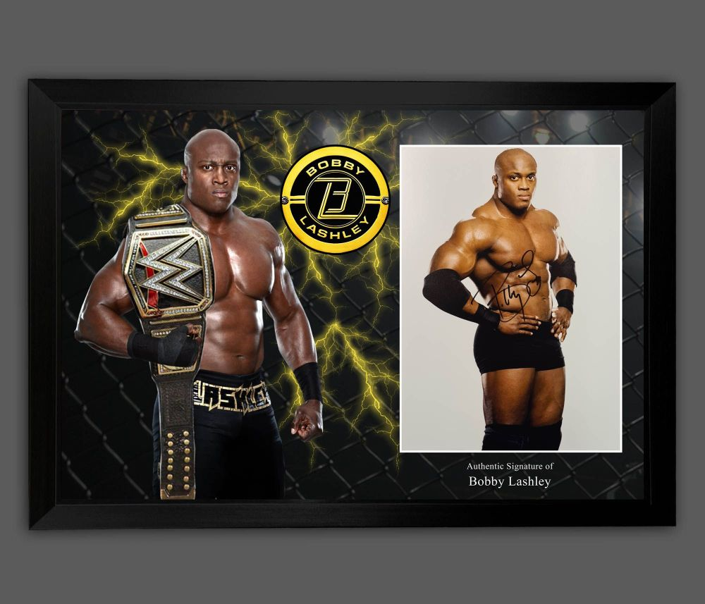 Bobby Lashley Signed And Framed 12x16 Wrestling Photograph  In A Picture