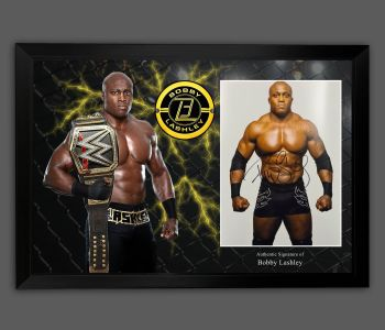 Bobby Lashley Signed And Framed 12x16 Wrestling Photograph  In A Picture Mount Display: B