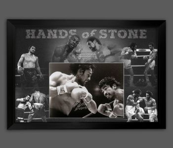Roberto Duran Signed And Framed 12x16 Boxing Photograph  In A Picture Mount Display : A