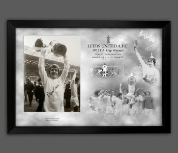 Alan Clarke Signed 12x16 Leeds Fc  Photograph Framed In A Picture Mount Display