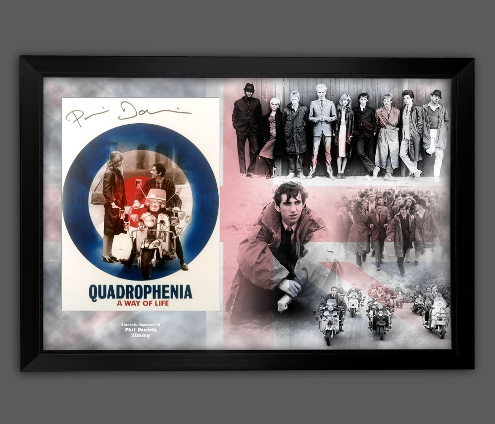Phil Daniels Signed 12x16 Quadrophenia  Photograph Framed In A Picture Mo
