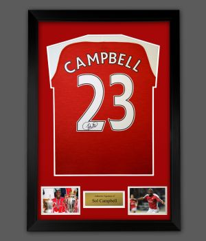 Sol Campbell Signed Arsenal Fc Football Shirt In A Framed Presentation: Star Deal