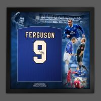 Duncan Ferguson Hand Signed Everton Fc Football Shirt In Framed Picture Mount Presentation