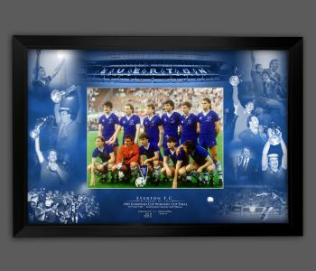 Everton Fc 1985 Team Signed Photograph Framed  In A Picture Mount Display : A
