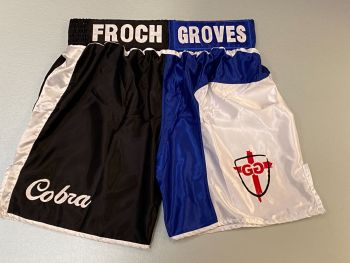 Carl Froch  And George Groves Dual Signed Boxing  Trunks : Private Signing Autograph  Pre Order.