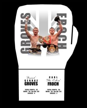 Carl Froch And George Groves Dual Signed  Custom Boxing Glove Private Signing Autograph  Pre Order.