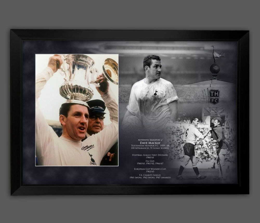 Dave Mackay Signed  Chelsea 12x16 Football Photograph In A Framed Picture