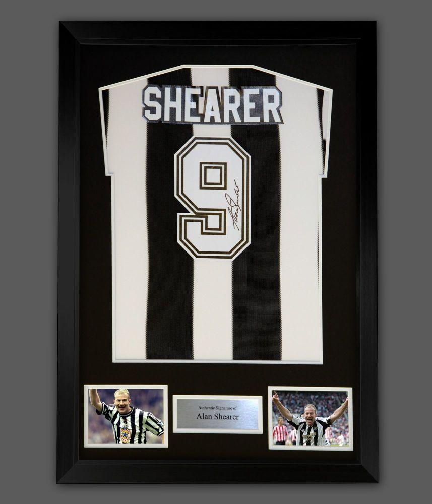 Alan Shearer Hand Signed And Framed Newcastle Football Shirt : Star Deal