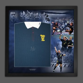 Ally McCoist Hand Signed And Framed  Scotland  Football Shirt In A Picture Mount Display : B