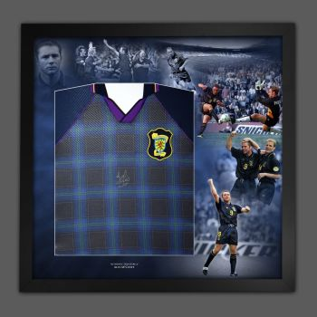 Ally McCoist Hand Signed Scotland 96 Euro Front Football Shirt In A Picture Mount Display