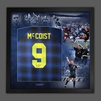 Ally McCoist Hand Signed Scotland 96 Euro Back Football Shirt In A Picture Mount Display