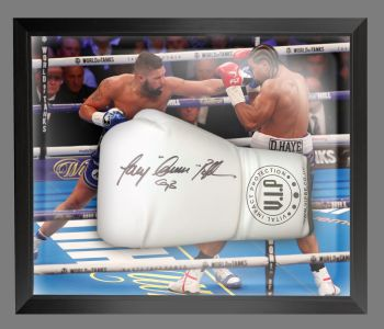 Tony Bellew Signed  White Vip  Boxing Glove In A Dome Frame : A