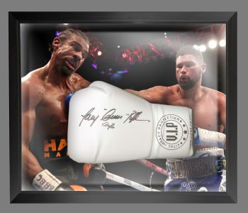 Tony Bellew Signed  White Vip  Boxing Glove In A Dome Frame : B