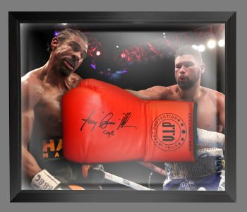 Tony Bellew Signed  Red Vip  Boxing Glove In A Dome Frame : B