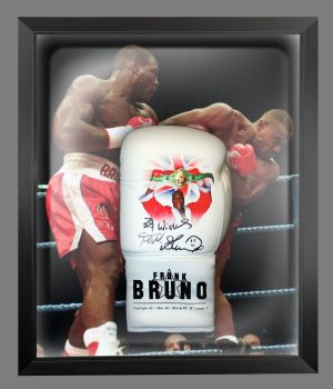 Frank Bruno Hand Signed Custom Made  Boxing Glove In A Dome : A