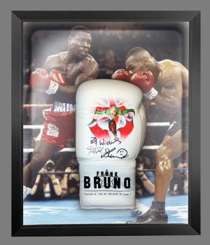 Frank Bruno Hand Signed Custom Made  Boxing Glove In A Dome : B