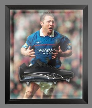 Ally Mccoist Rangers Signed Football Boots In An Acrylic Dome Frame : C