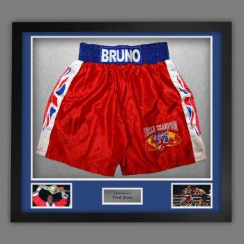 Frank Bruno Hand Signed And Framed Custom Made Boxing Trunks :B