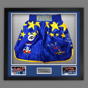Tony Bellew  Signed And Framed Custom Made Boxing Trunks