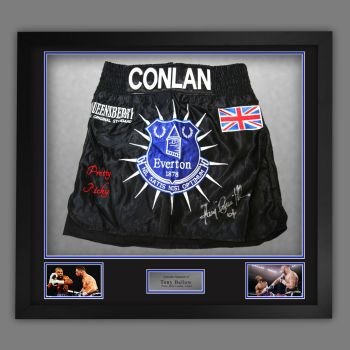 Tony Bellew  Signed And Framed Custom Made Creed Boxing Trunks