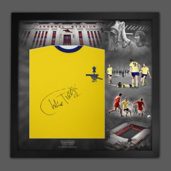 Charlie George Hand Signed And Framed  Arsenal 1971 Football Shirt  In A Picture Mount Display