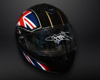 Carl Fogarty Hand Signed Full Size  Motorbike Helmet Clear Visor