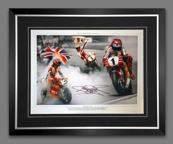 Carl Fogarty Hand Signed And Framed Super Bikes 12x16 Montage